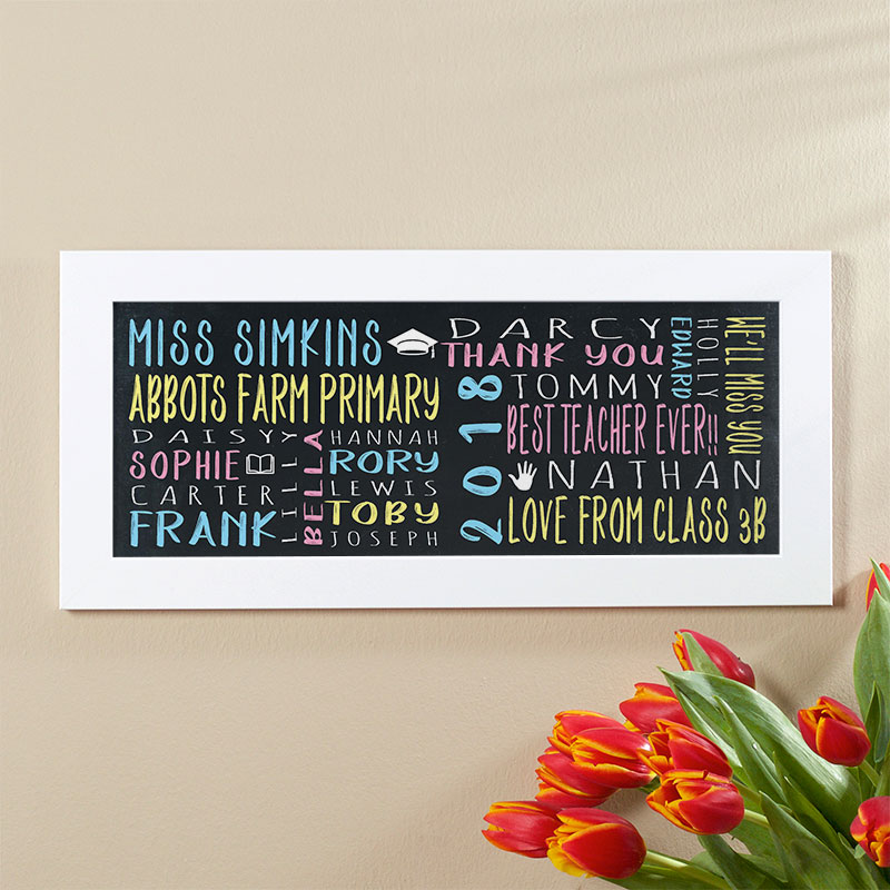 teacher gift personalised wall art class present