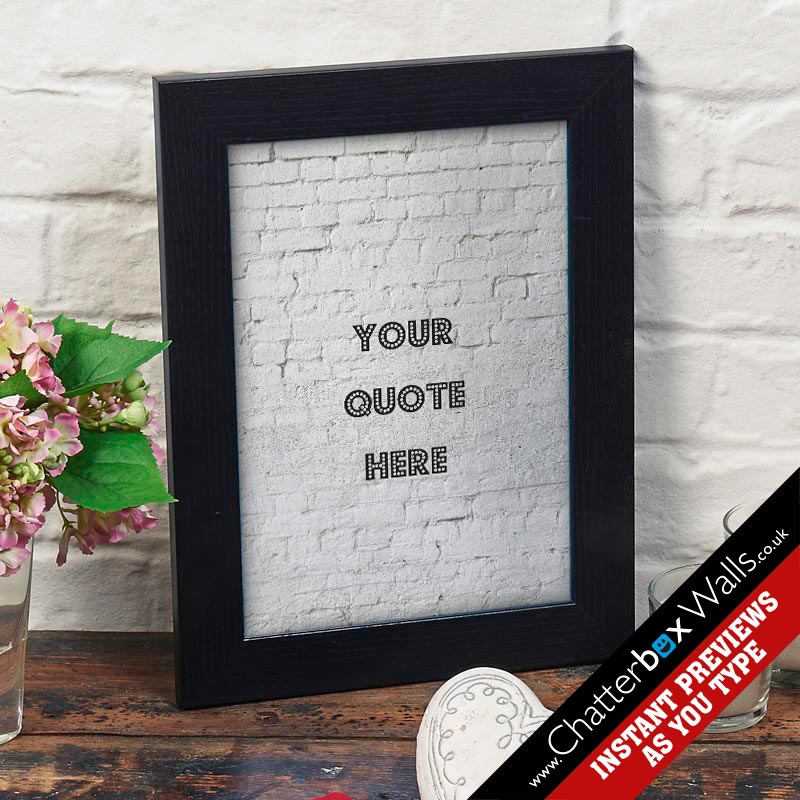 create your own quote framed print