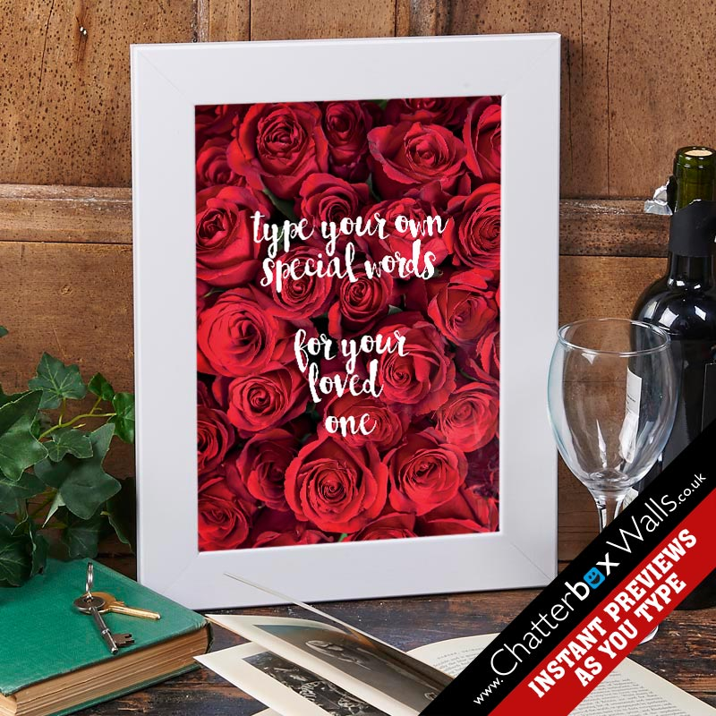 personalised type a quote valentines gift
