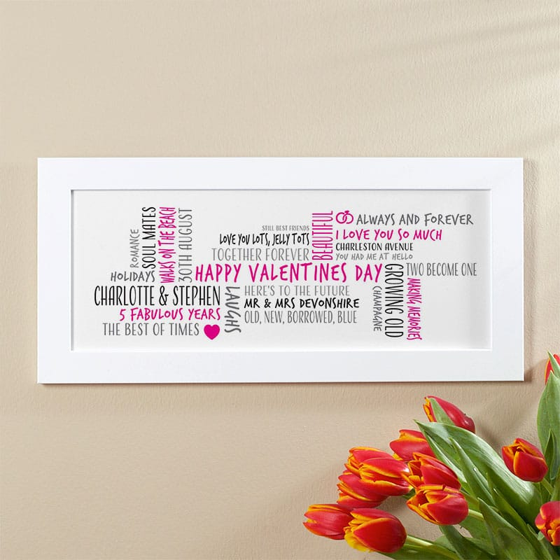 valentines gift personalised gift word cloud picture