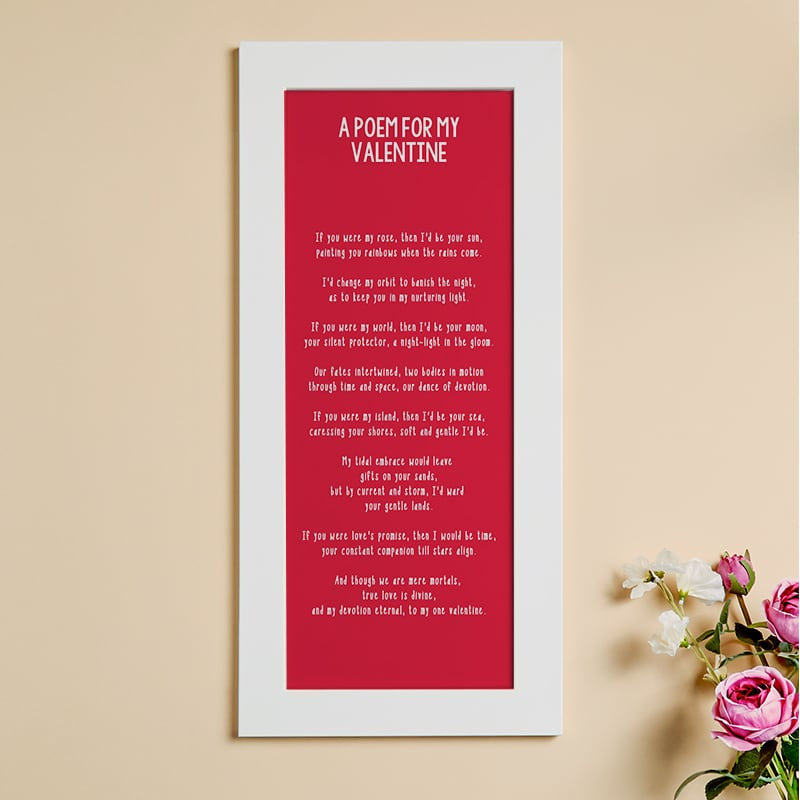 valentines gift of poetry