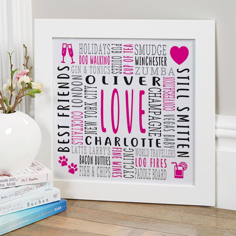 valentines present custom word art picture