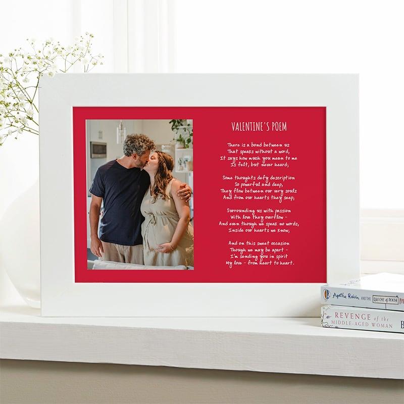 custom valentines gift photo poem