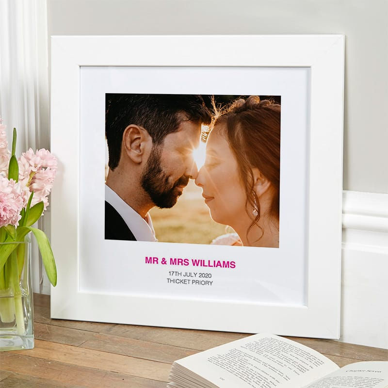 wedding memory anniversary gift personalised photo picture