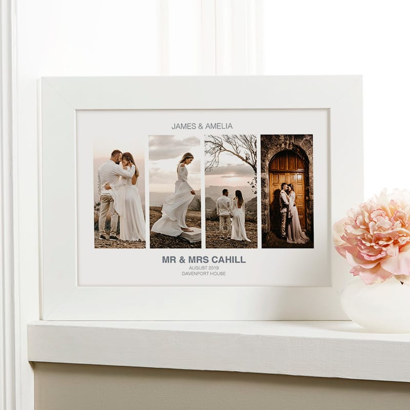 wedding anniversary photo gift with text