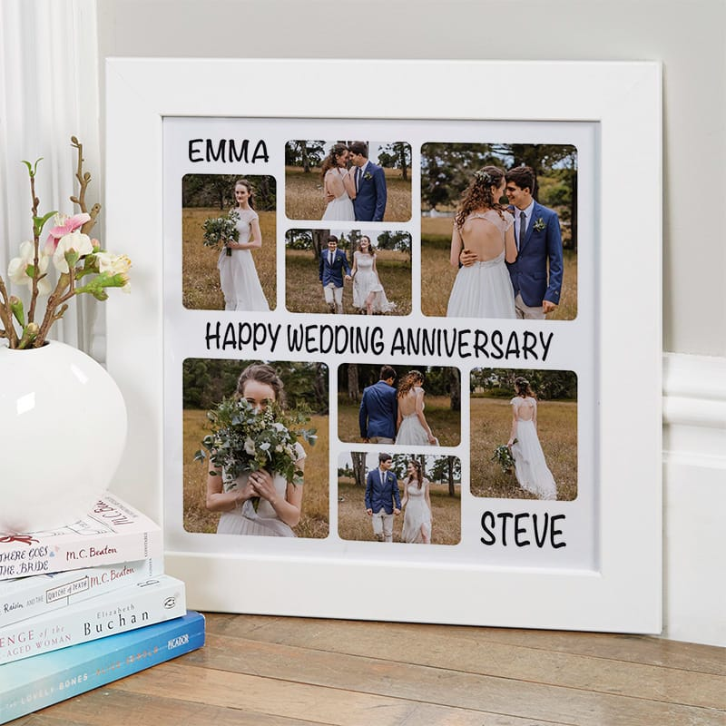 wedding photo collage gift wall art