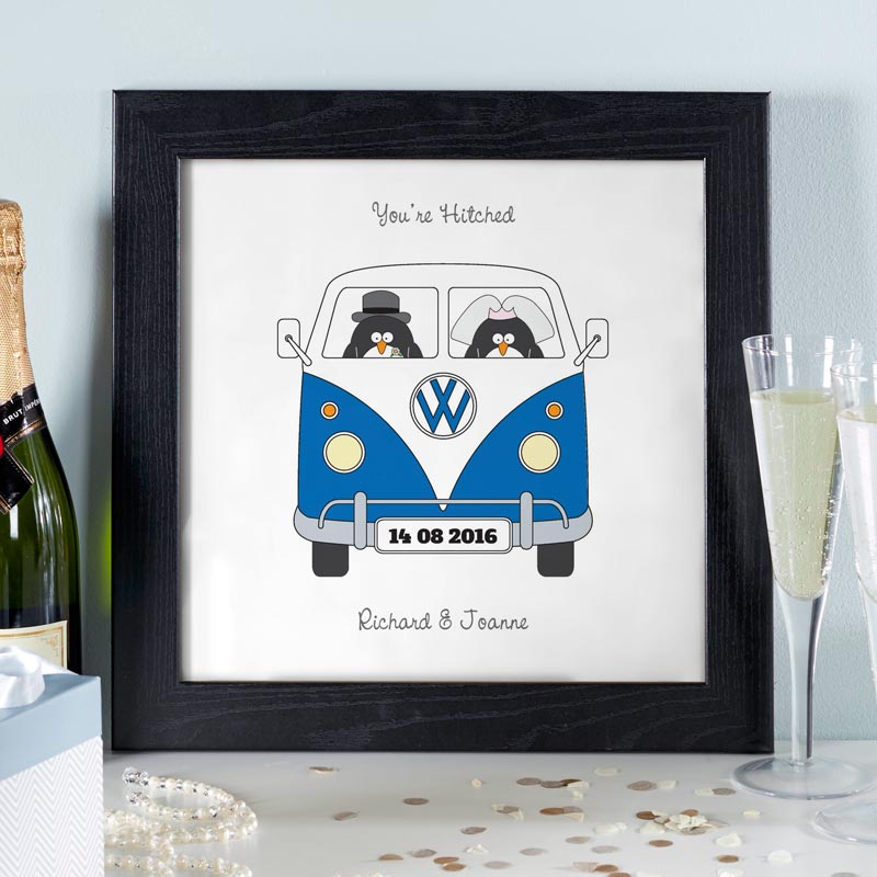 personalised wedding gift couples print