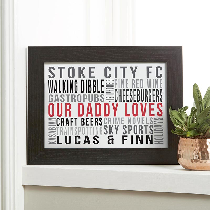 personalised typographic print