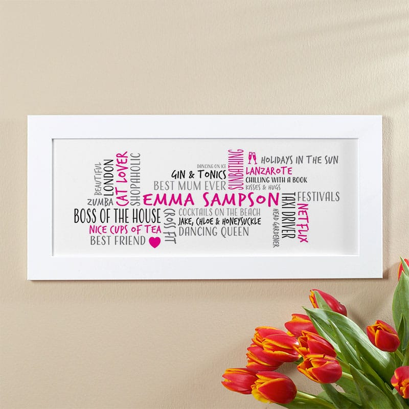word cloud personalised gift