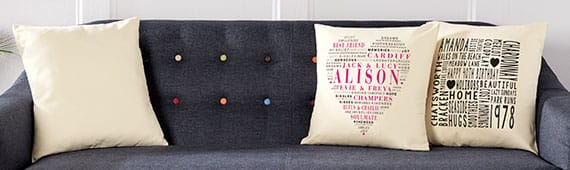 Personalised typographic prints canvases cushions pronofoot35fo Image collections