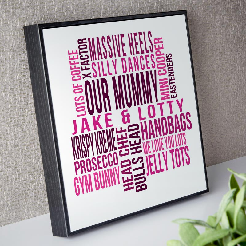 Personalised Word Art Box Frames